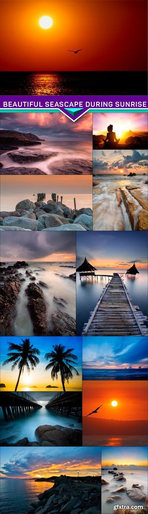 Beautiful seascape during sunrise 13x JPEG
