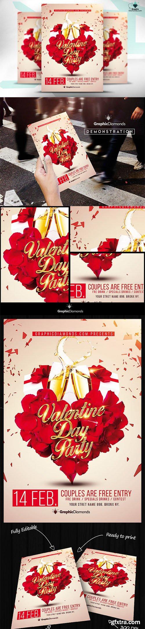 Creativemarket Valentine Day Flyer PSD 469151