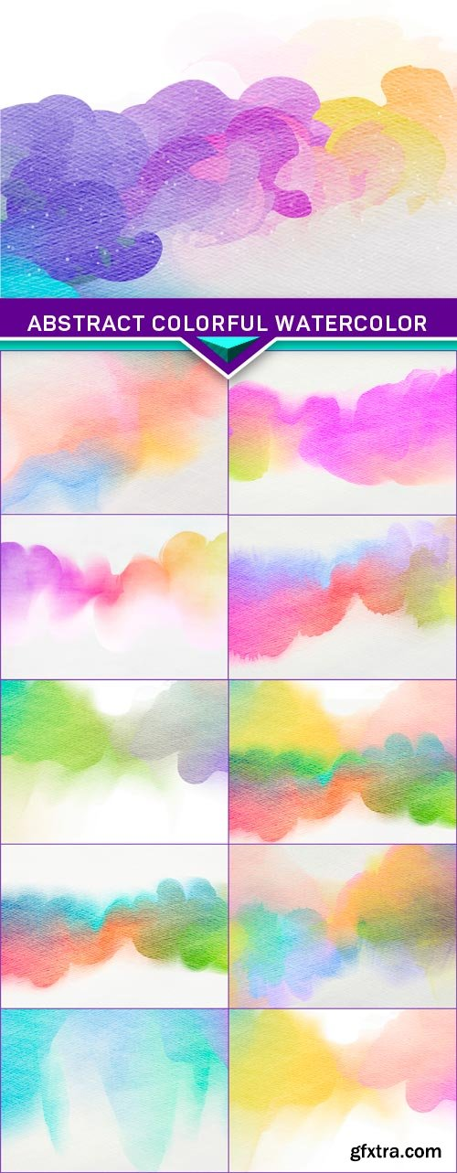 Abstract colorful watercolor for background 11x JPEG