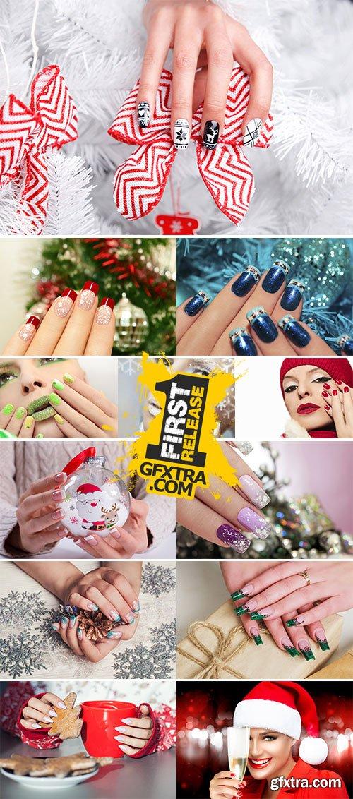 Stock Image Winter manicure