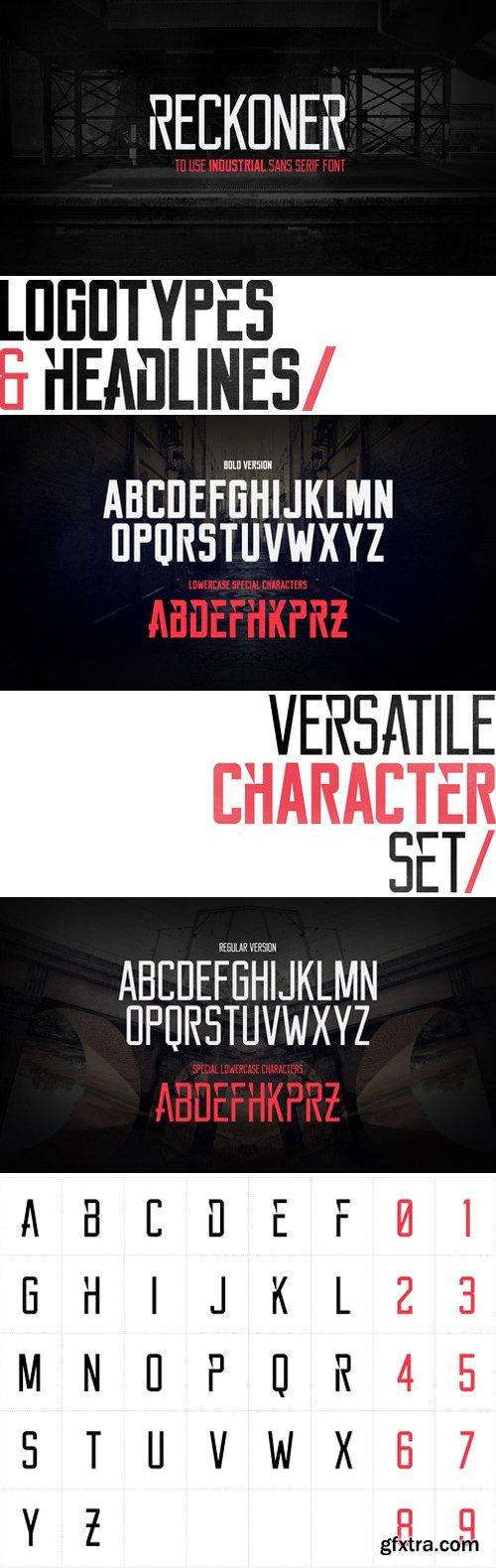 Reckoner Typeface