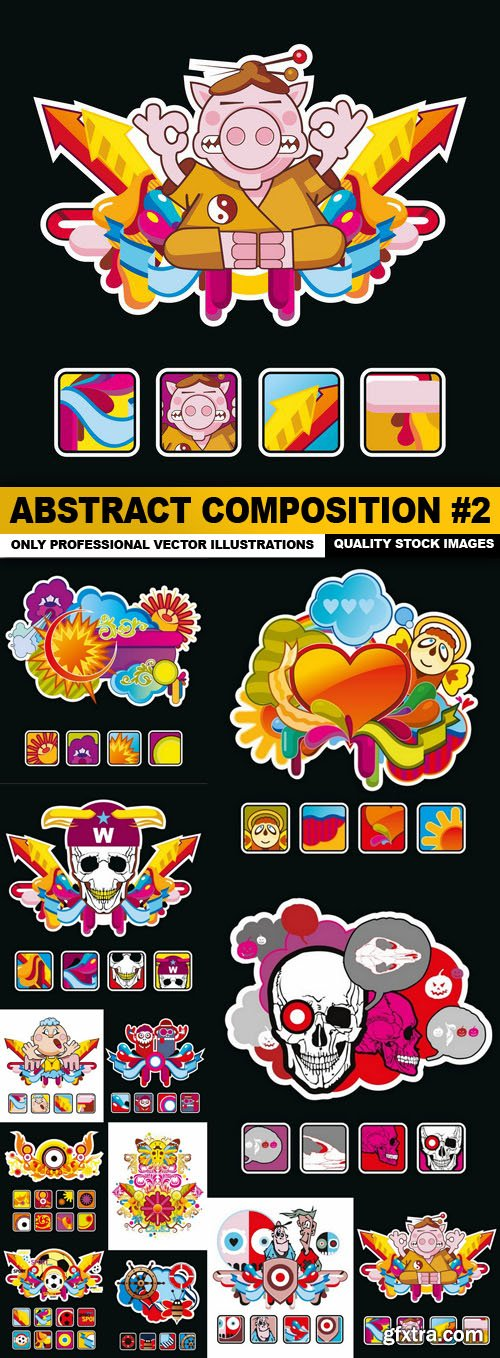 Abstract Composition #2 - 12 Vector