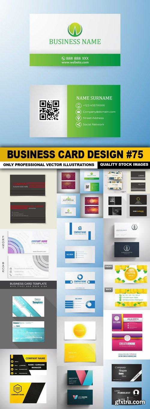 Business Card Design #75 - 20 Vector