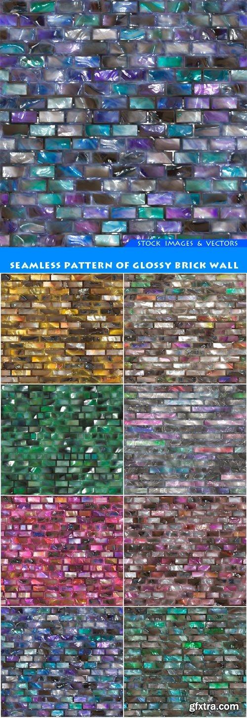 Seamless pattern of glossy brick wall 8X JPEG