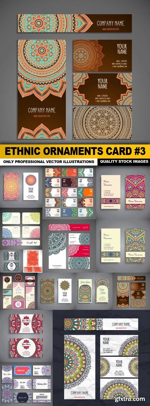 Ethnic Ornaments Card #3 - 15 Vector