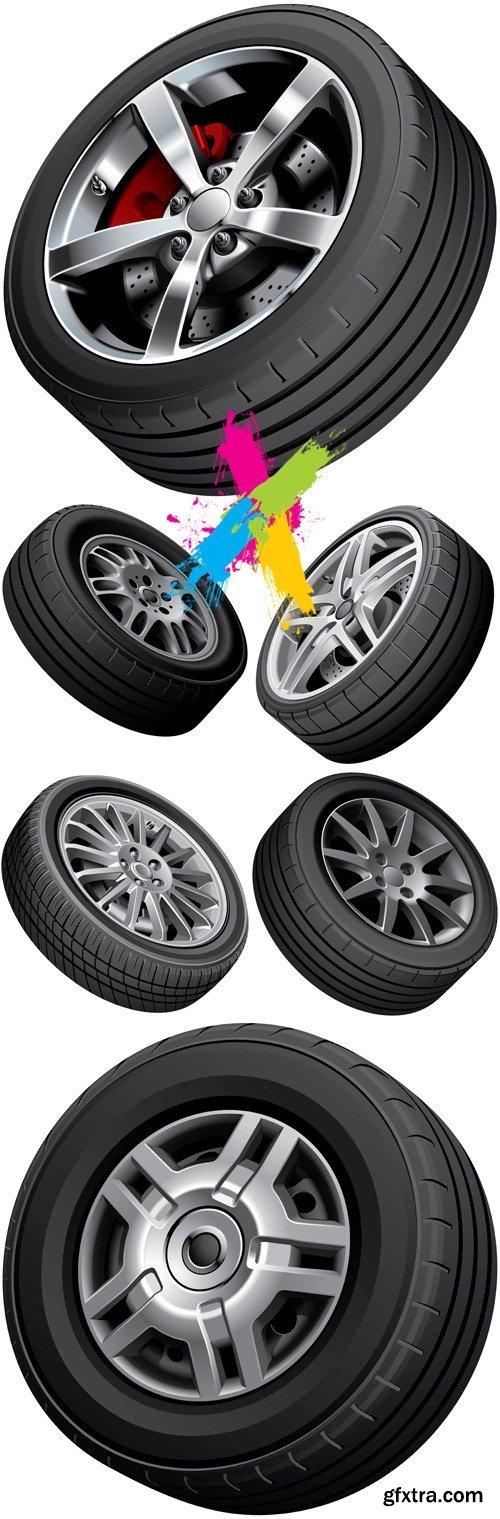 Car Tires Vector 2