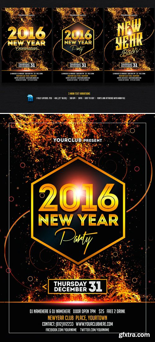 CM - New Year Party/Bash Flyer 437920