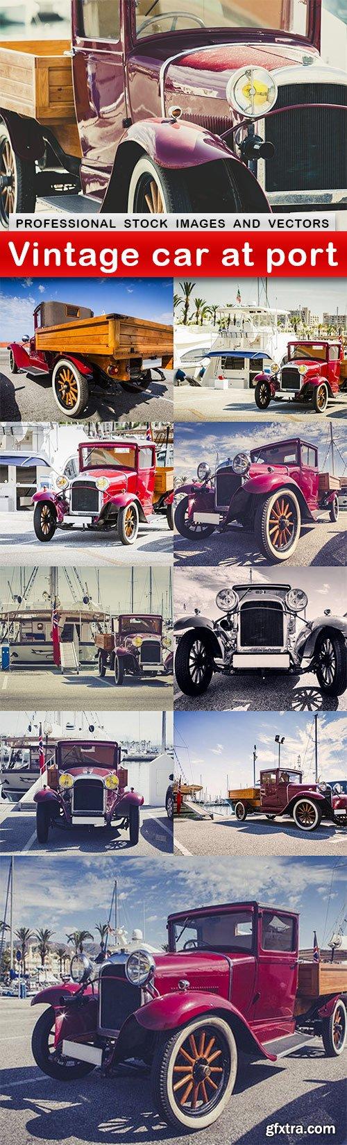 Vintage car at port - 10 UHQ JPEG
