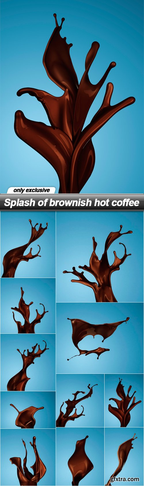 Splash of brownish hot coffee - 11 UHQ JPEG