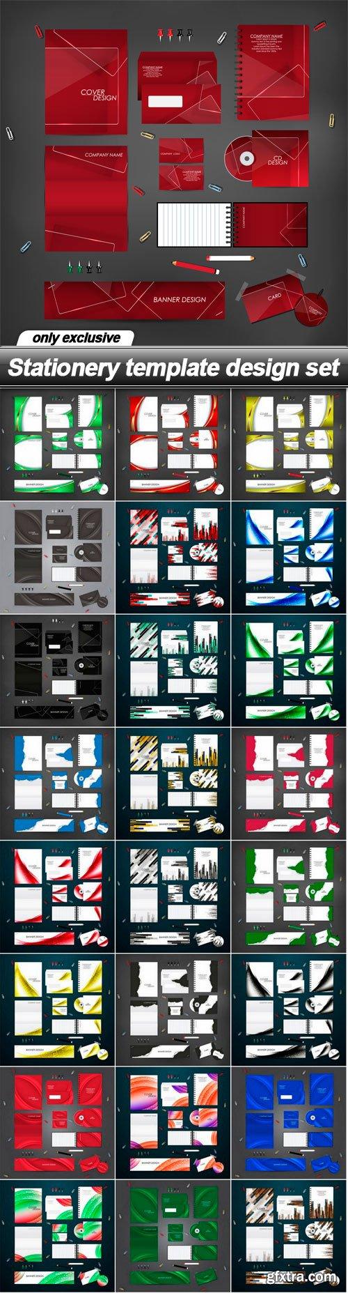 Stationery template design set - 25 EPS