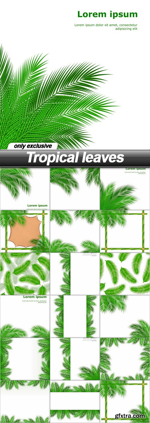 Tropical leaves - 18 EPS