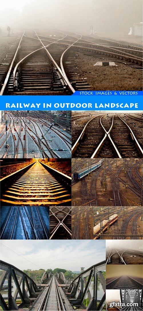 Railway in outdoor landscape 13X JPEG