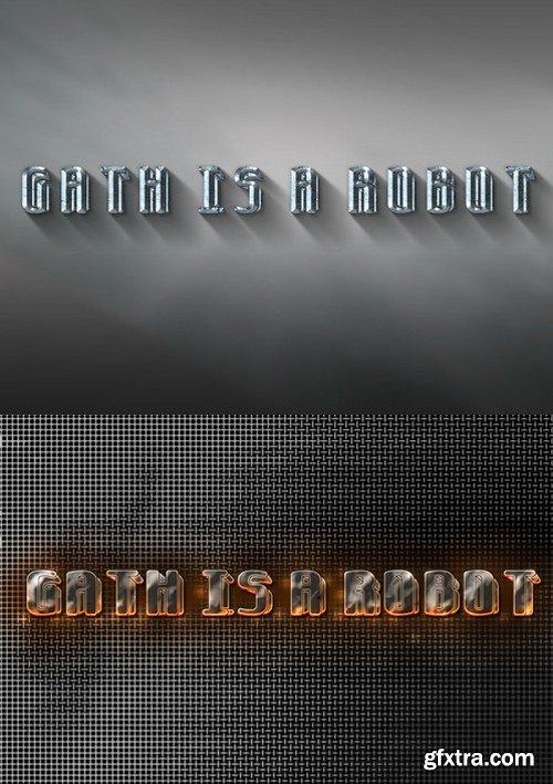 CM - Gath is a Robot 3D font 473303