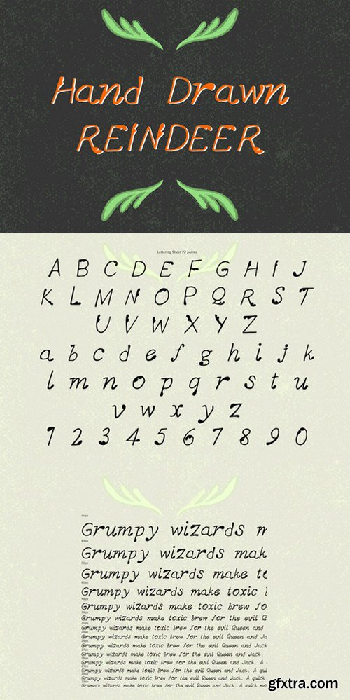 CM - Hand-Drawn Reindeer Font 473778