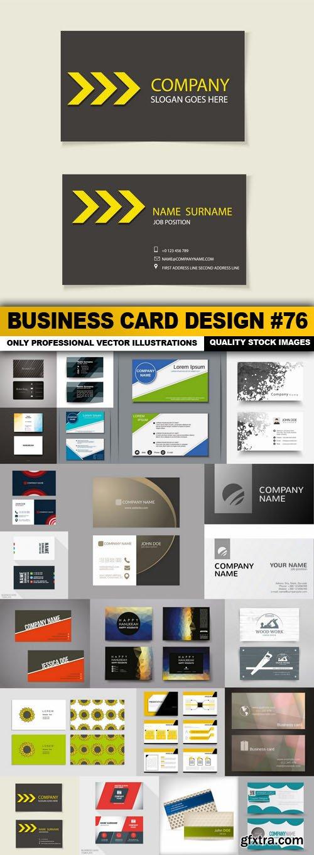 Business Card Design #76 - 20 Vector