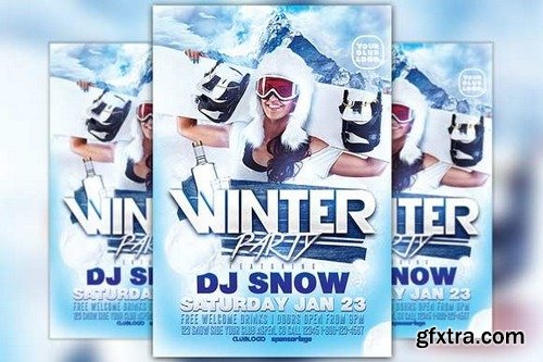 CM - Winter Party Flyer Template 418615