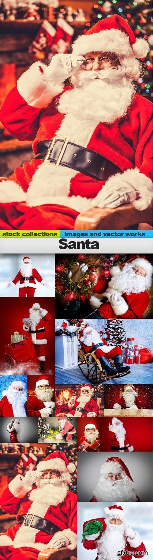 Santa, 15 x UHQ JPEG