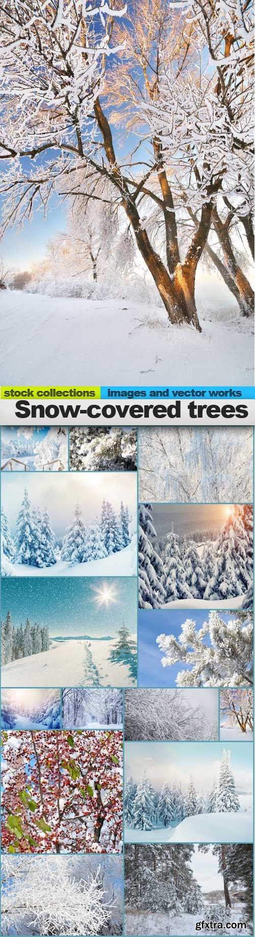 Snow-covered trees, 15 x UHQ JPEG