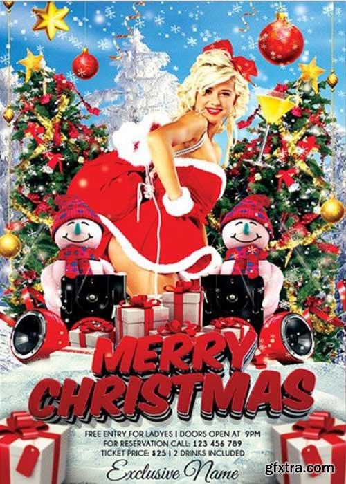Sexy Christmas  V4 Premium Flyer Template + Facebook Cover