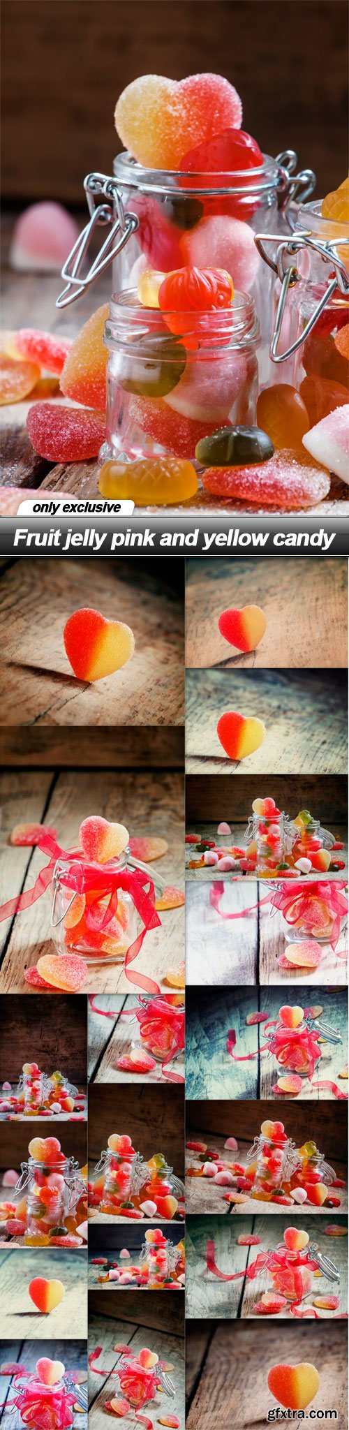 Fruit jelly pink and yellow candy - 18 UHQ JPEG