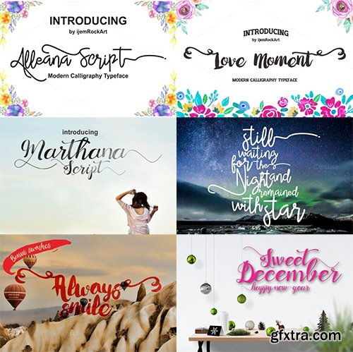 Creativemarket Sweet December FONT Bundle 474200