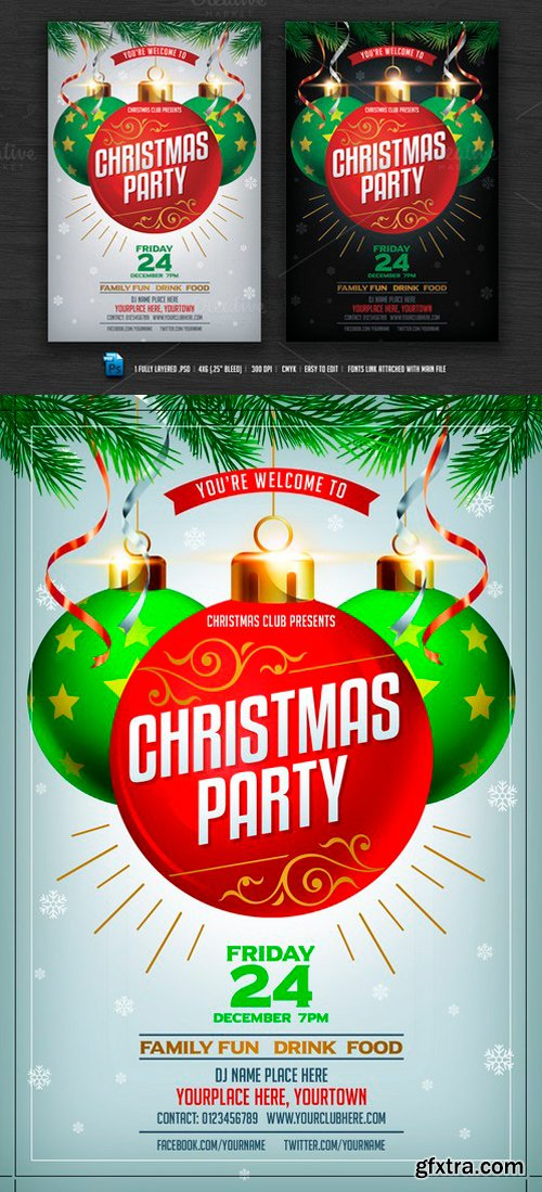 CM - Christmas Party Flyer 419162