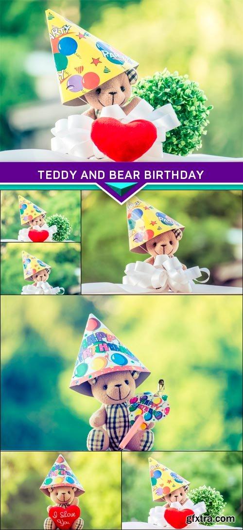 Teddy and bear birthday 7x JPEG