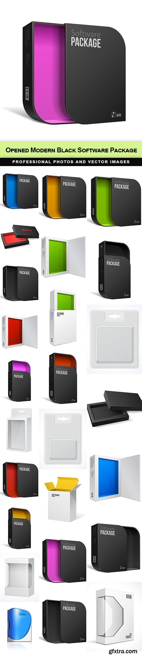 Opened Modern Black Software Package
