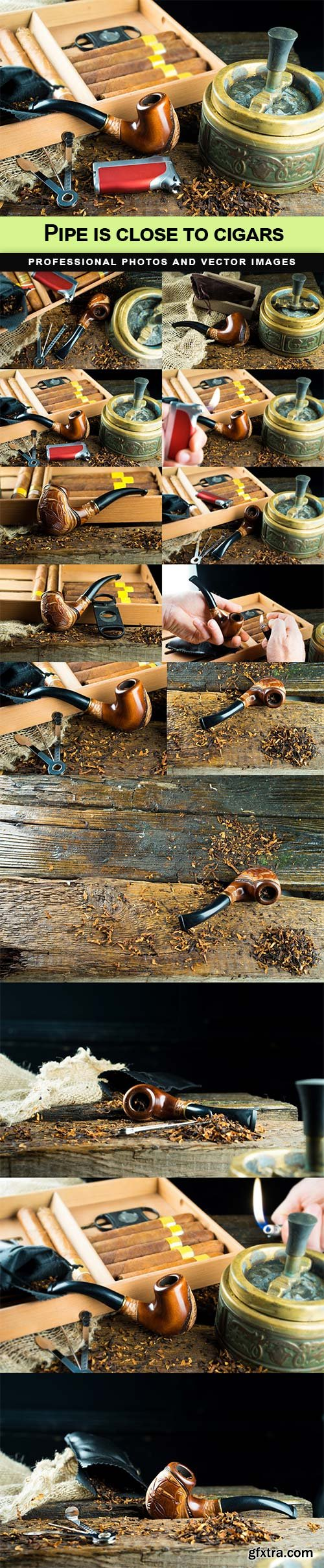 Pipe is close to cigars