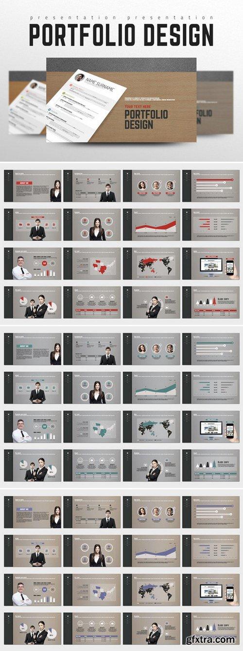 CM - Portfolio Design PowerPoint Templates 333968