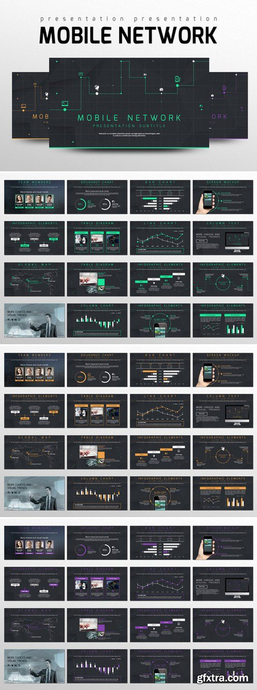 CM - Mobile Network PowerPoint Templates 334899