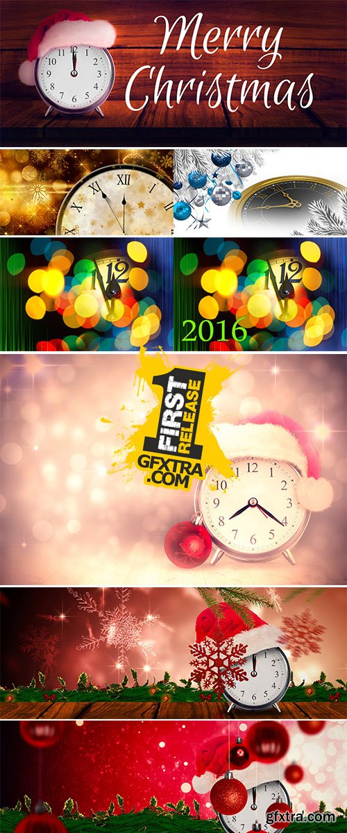 Stock Image Composite image of christmas clock