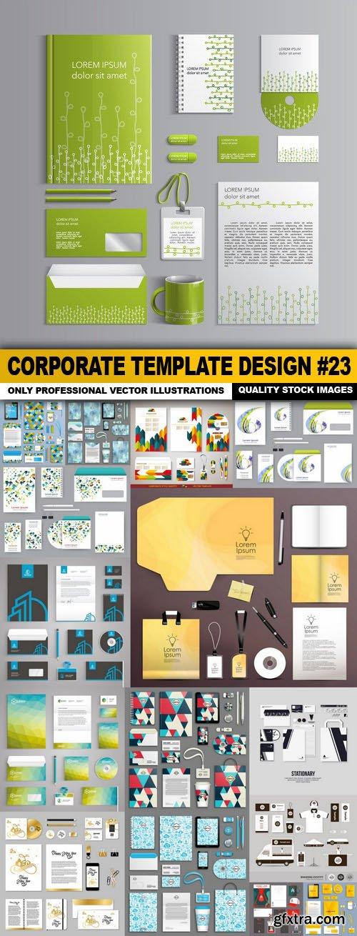 Corporate Template Design #23 - 16 Vector