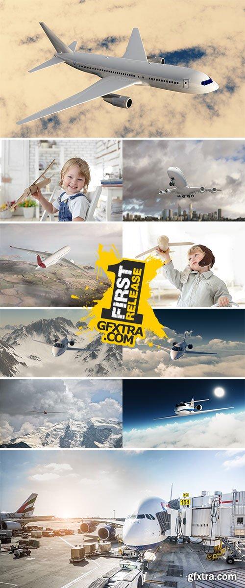 Stock Image Airplane landing