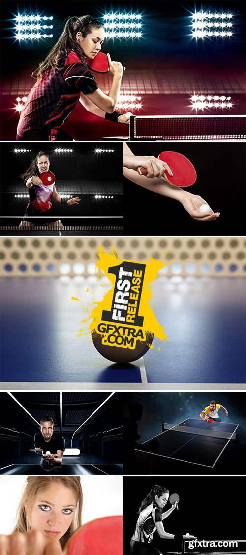 Stock Image Playing table tennis