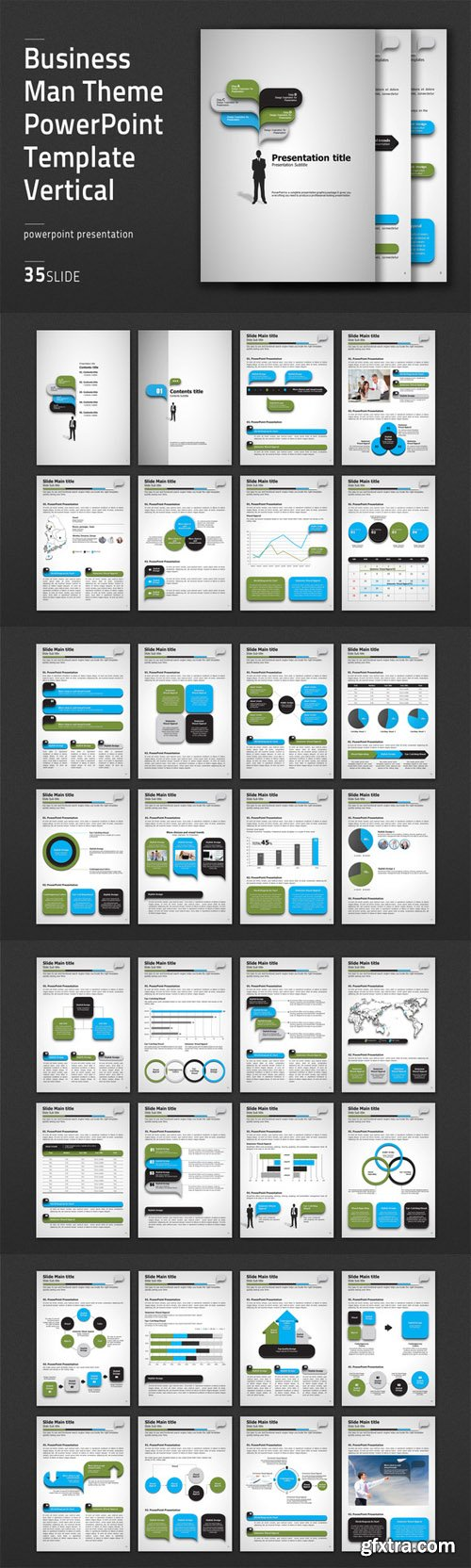 CM - Business Man Theme PPT Vertical 474569