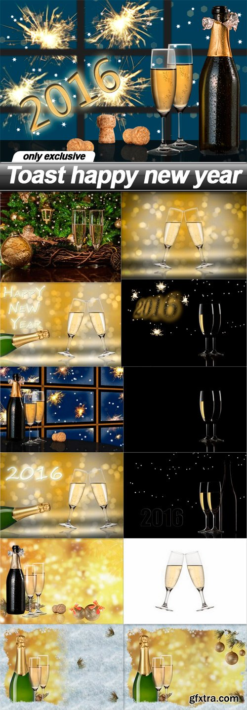 Toast happy new year - 13 UHQ JPEG