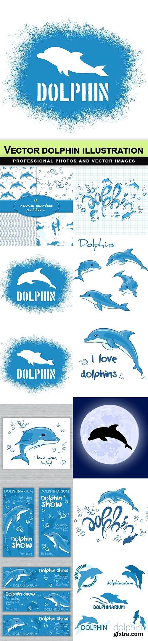 Vector dolphin illustration