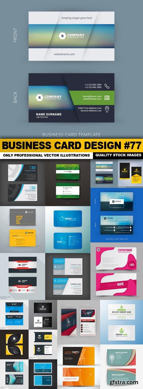 Business Card Design #77 - 20 Vector