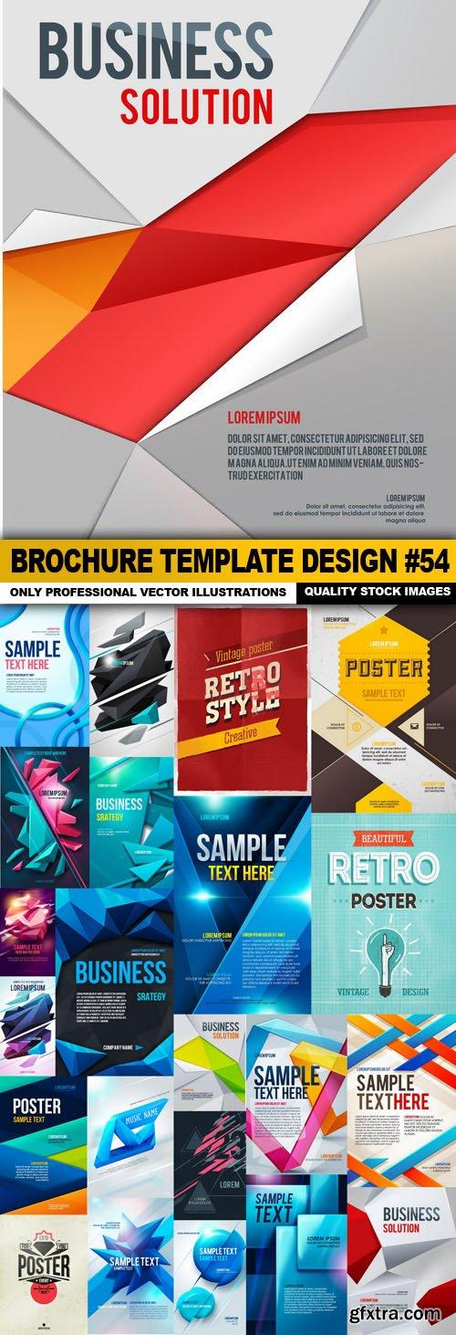 Brochure Template Design #54 - 26 Vector
