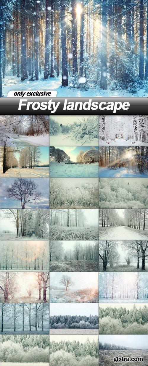 Frosty landscape - 25 UHQ JPEG