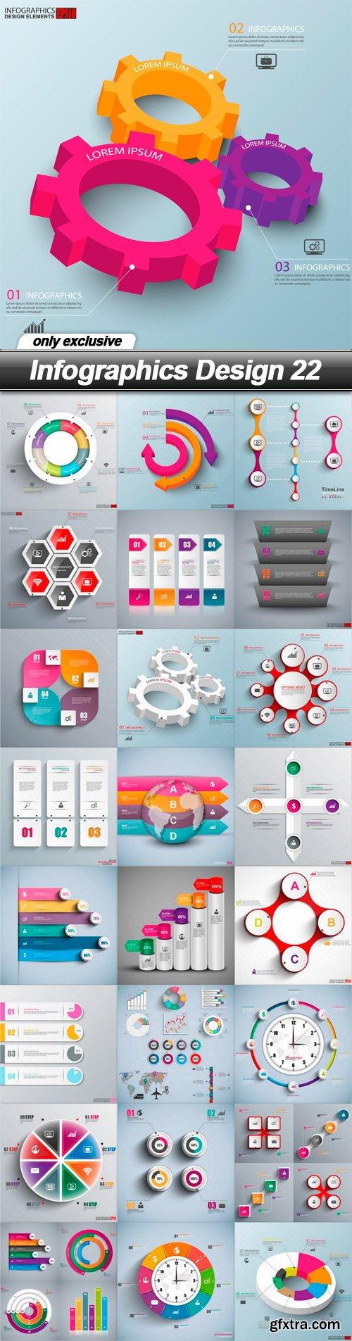 Infographics Design 22 - 25 EPS