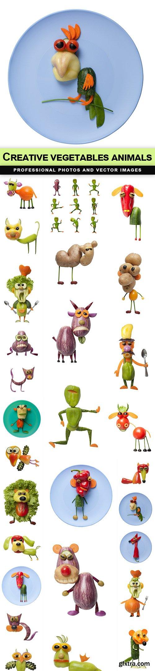 Creative vegetables animals