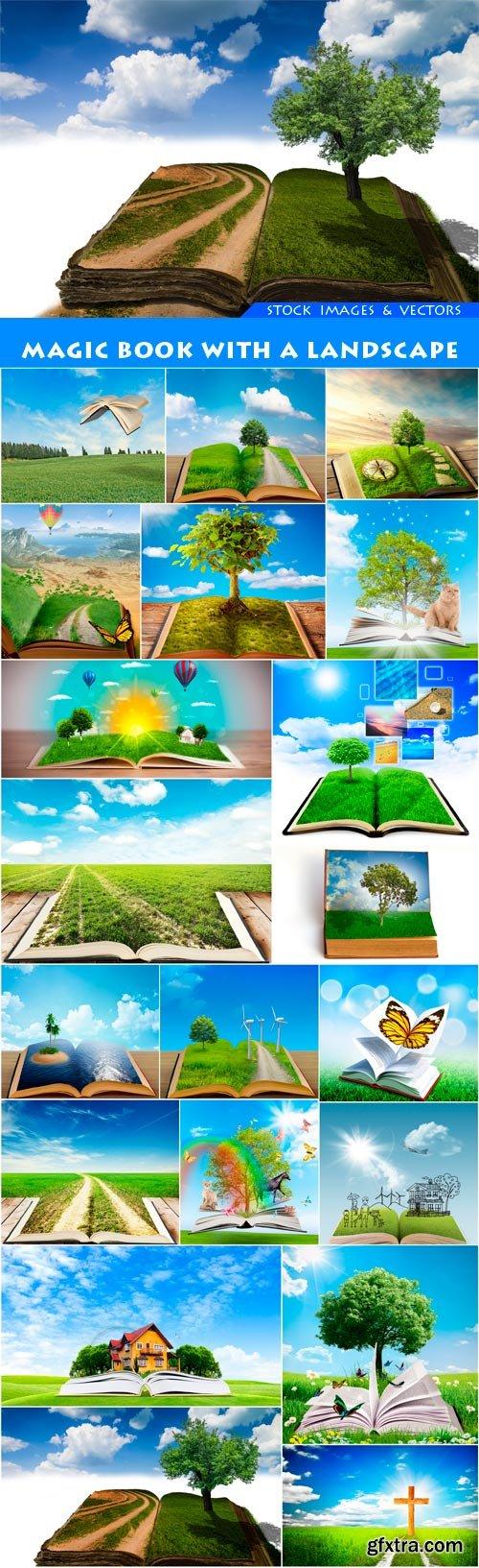 magic book with a landscape 20X JPEG