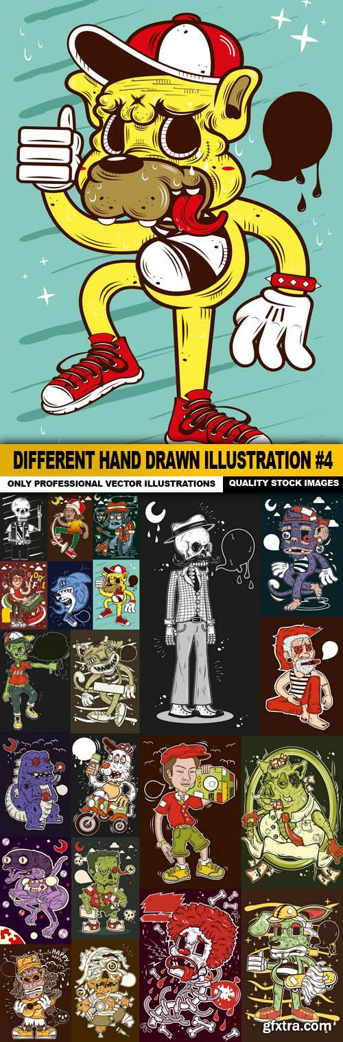 Different Hand Drawn Illustration #4 - 21 Vector