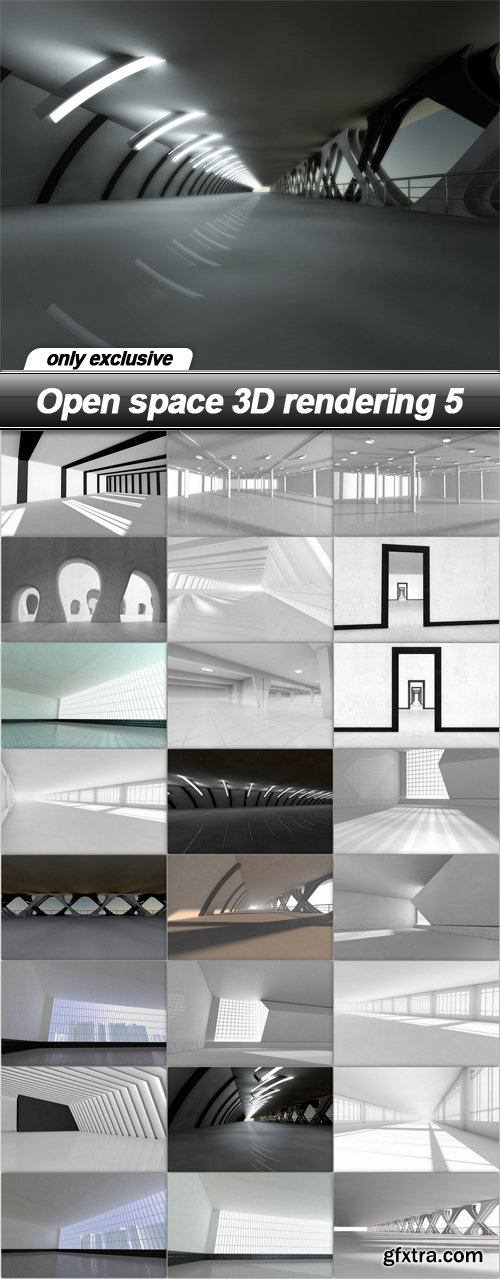 Open space 3D rendering 5 - 25 UHQ JPEG