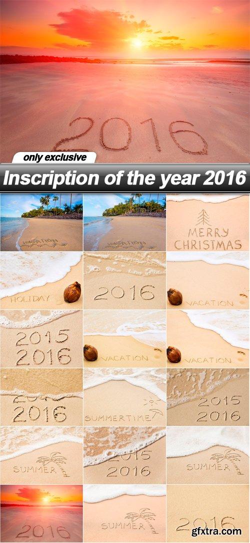 Inscription of the year 2016 - 18 UHQ JPEG
