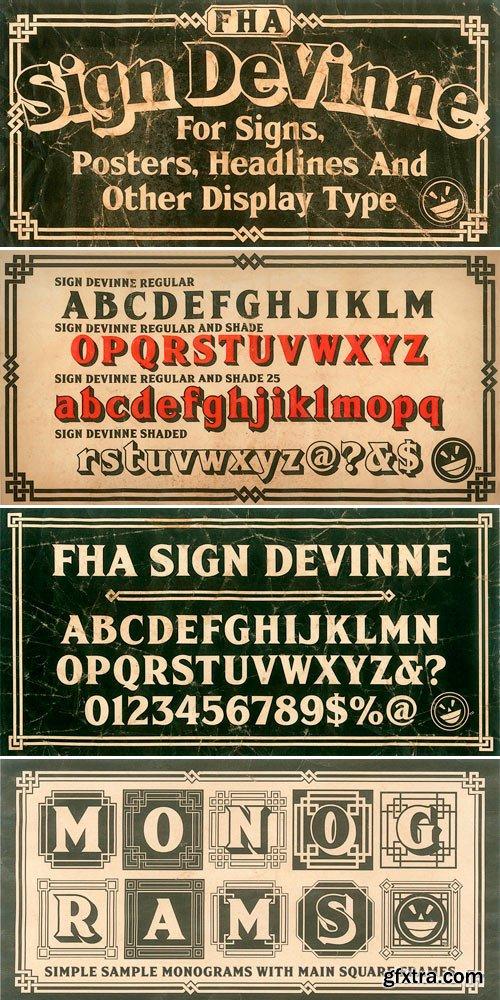 FHA Sign DeVinne Font Family