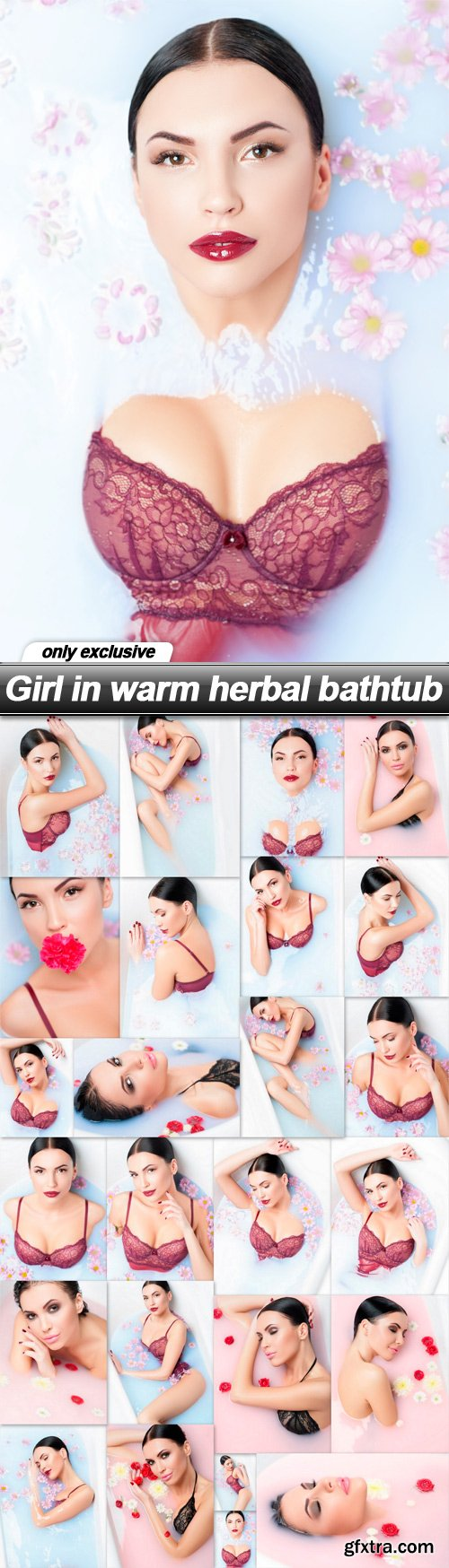 Girl in warm herbal bathtub - 25 UHQ JPEG
