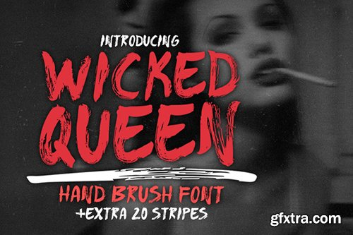 CreativeMarket WICKED QUEEN Brush FONT +extra 482526